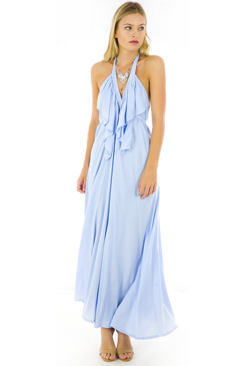 Belle Starr Maxi Dress Ice Blue