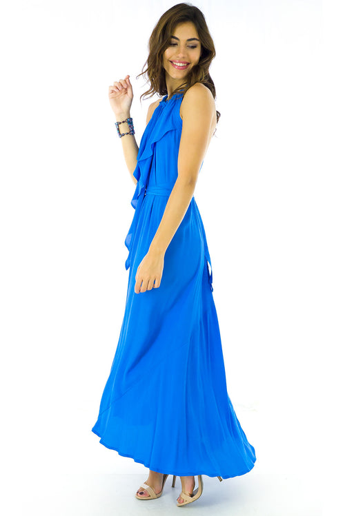 Beethoven Azure Maxi Gown