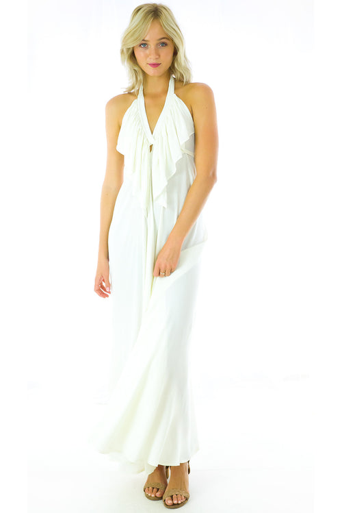 Belle Starr Maxi Dress Cream