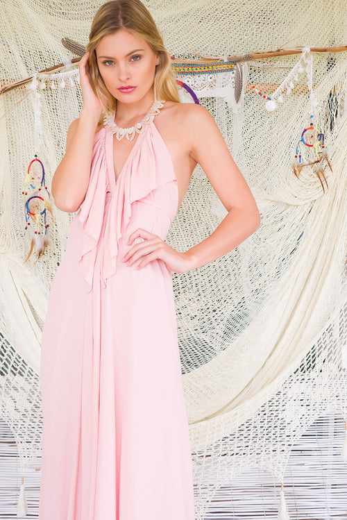 Belle Starr Maxi Dress Rose Petal Pink