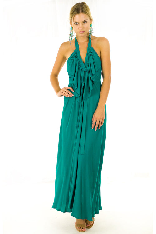 Belle Starr Maxi Dress Emerald Green