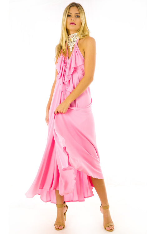 Belle Starr Maxi Dress Flamingo Pink
