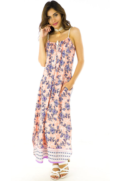 Havana Peachy Maxi Dress