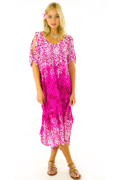 Blue Moon Kaftan in Fuchsia