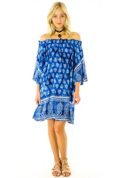 Mai Tai Indigo Paisley Dress