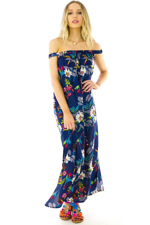 Pina Colada Jungle Maxi Dress
