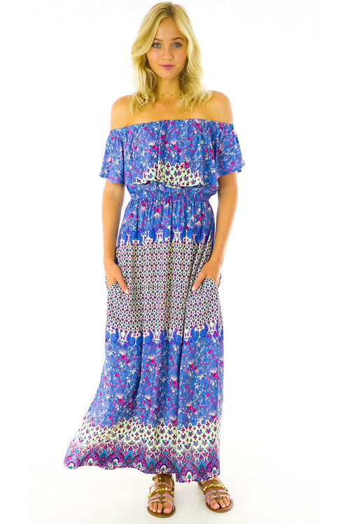 Plantation Blue Maxi Dress