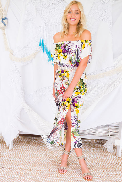 Plantation Jungle Maxi Dress