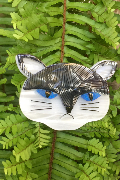 Sour Puss Cat Erstwilder Brooch