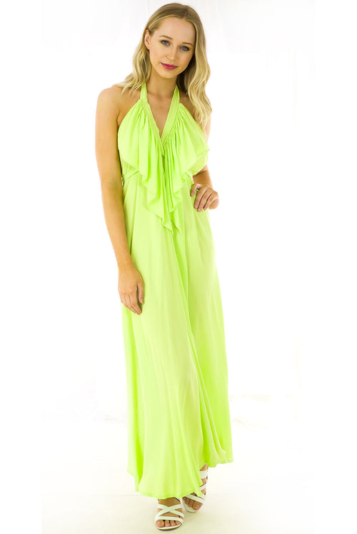 Belle Starr Maxi Dress Splice Green