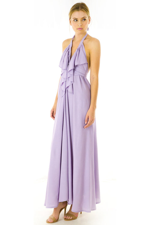 Belle Starr Maxi Dress Lilac Thistle