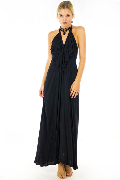 Belle Star Maxi Dress Black Noir