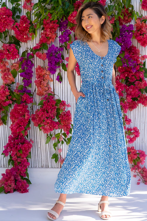 Juniper French Dee Blue Maxi Dress