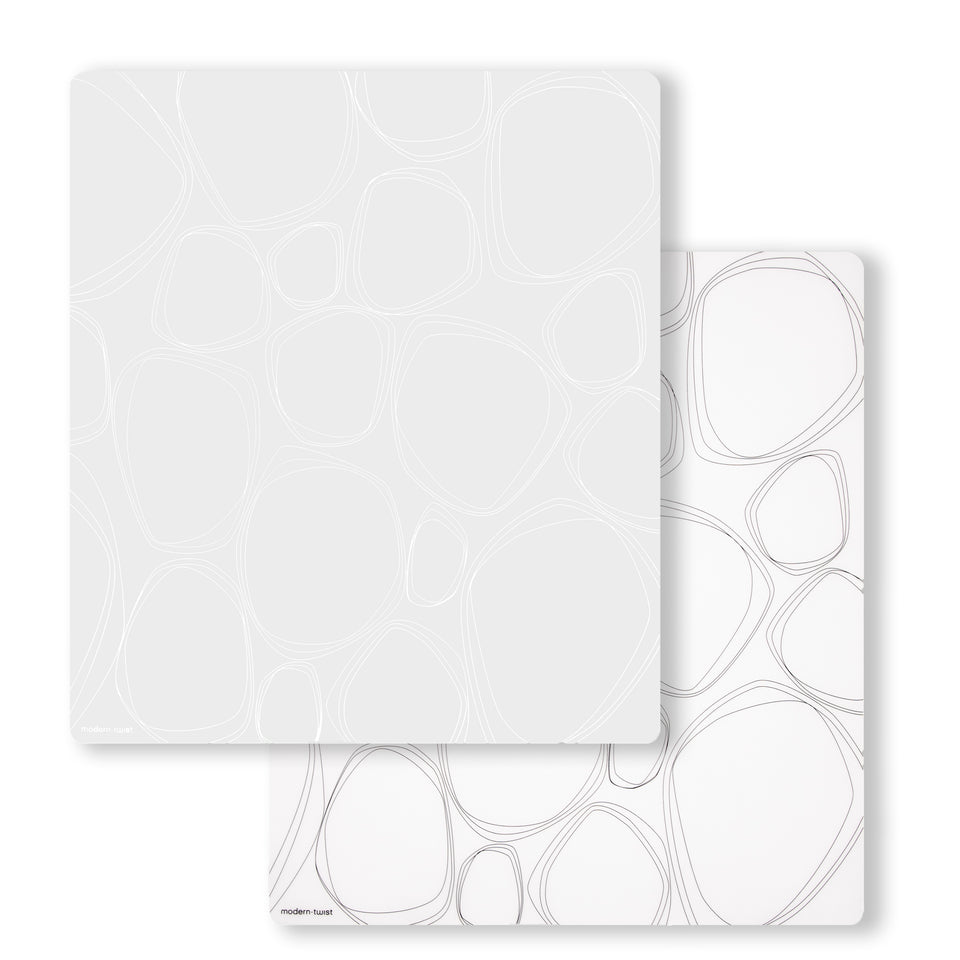 Accent Mat Set: Pebbles - White + Black