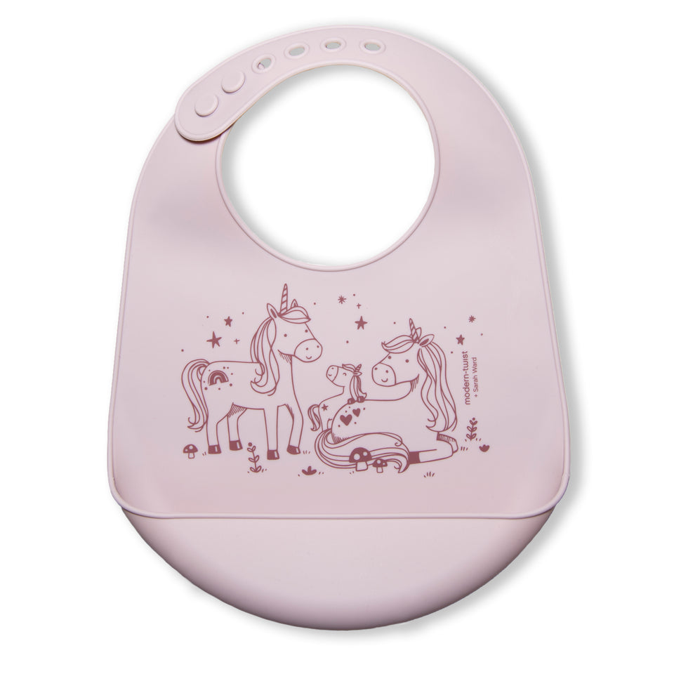 Bucket Bib : Unicorn Family - Rose