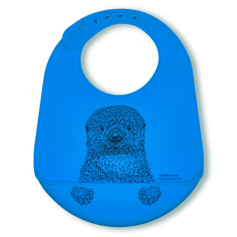 Bucket Bib : Curious Otter - Sea Blue
