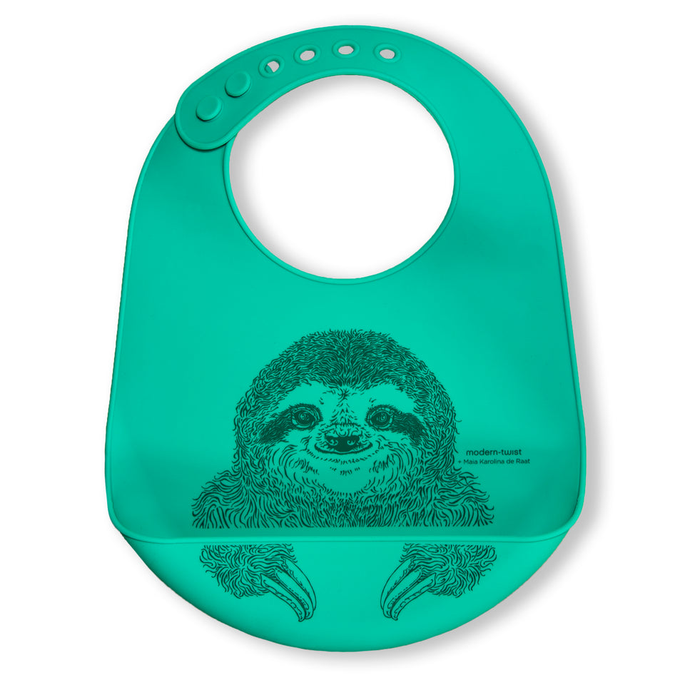 Bucket Bib: Sloth - Jungle Green