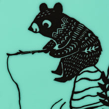 Bucket Bib: Bear Family - Mint