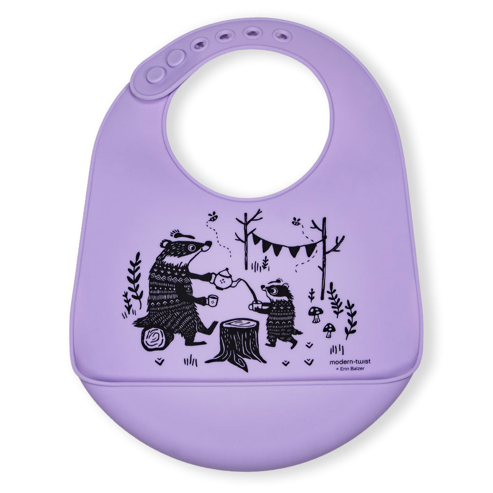 Bucket Bib : Badger Family - Lavender