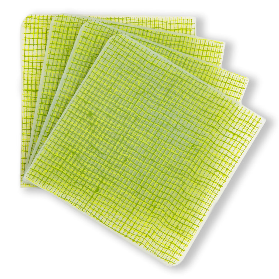 Coasters : Linen - Green Apple Set of 4