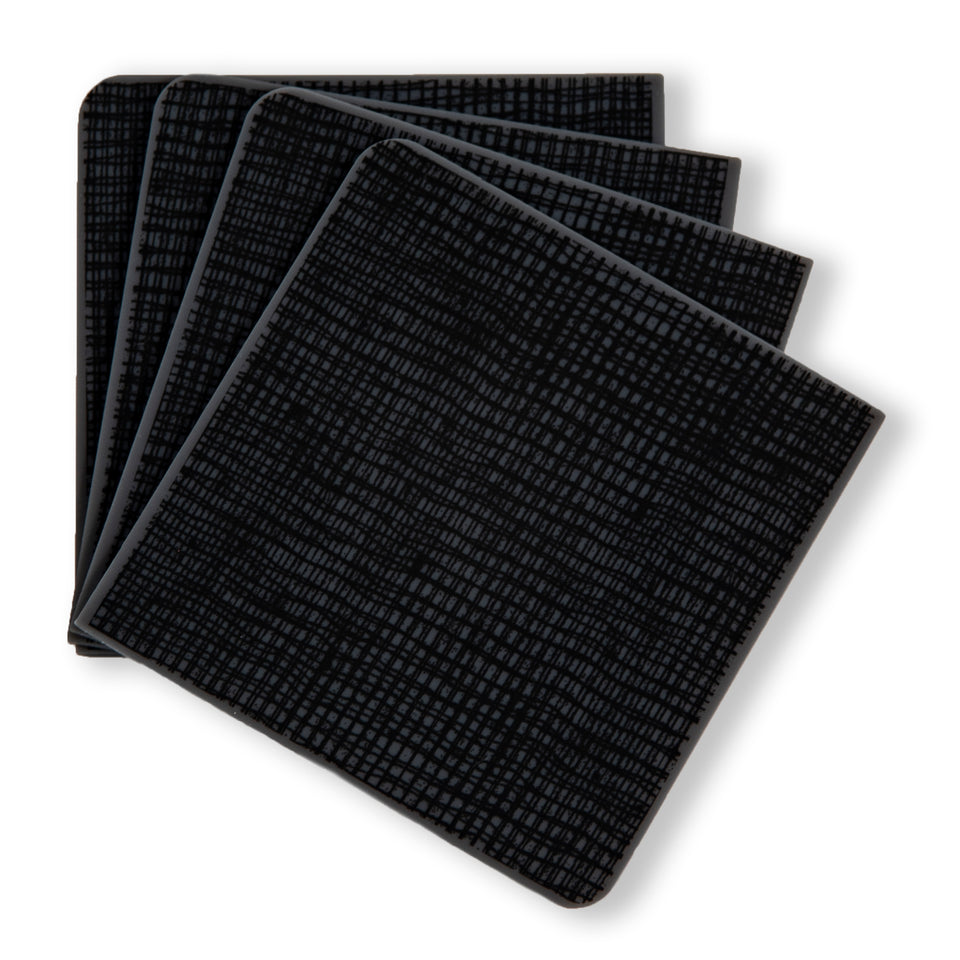 Coasters : Linen - Black Set of 4