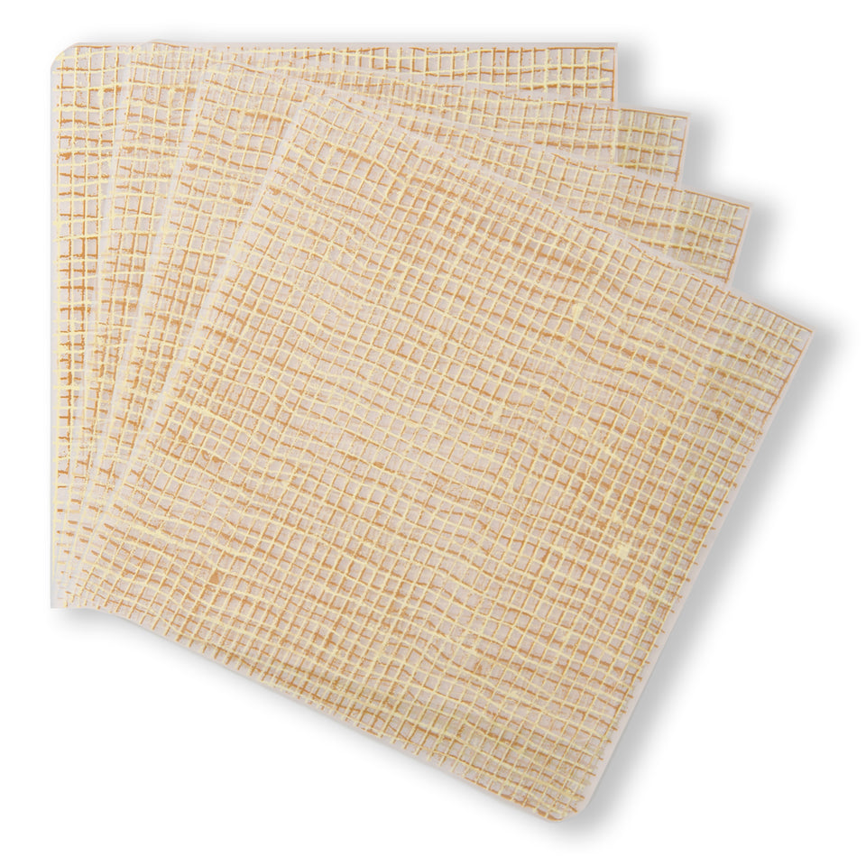 Coasters : Linen - Straw Set of 4