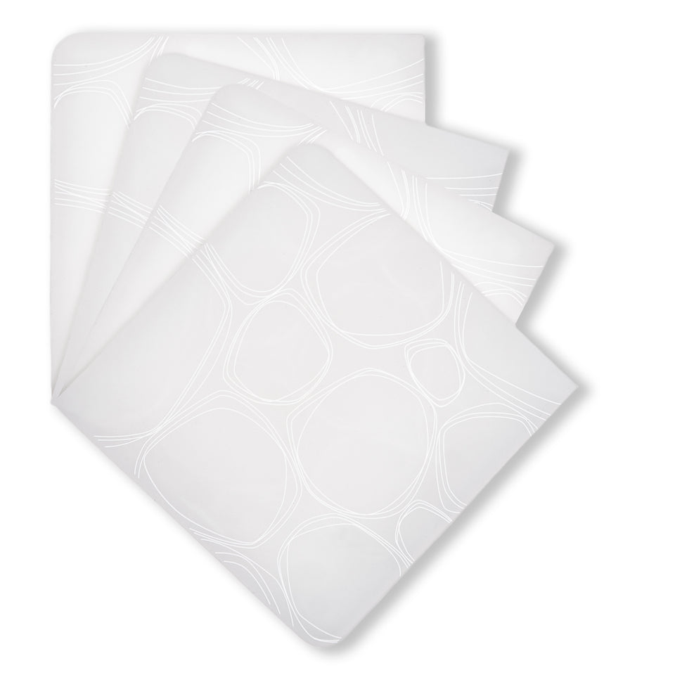 Coasters : Pebbles - White Set of 4
