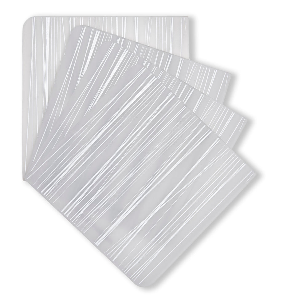 Coasters : Stream - Silver Set of 4