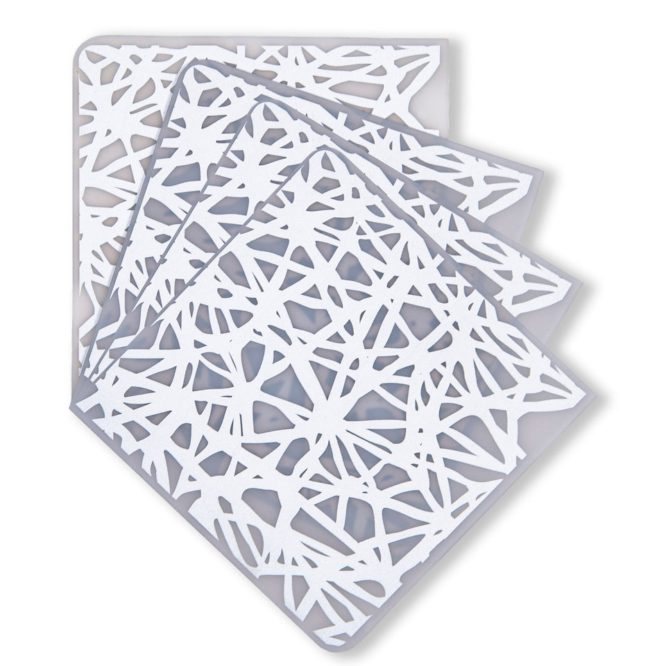 Coasters : Twine - Silver Set of 4