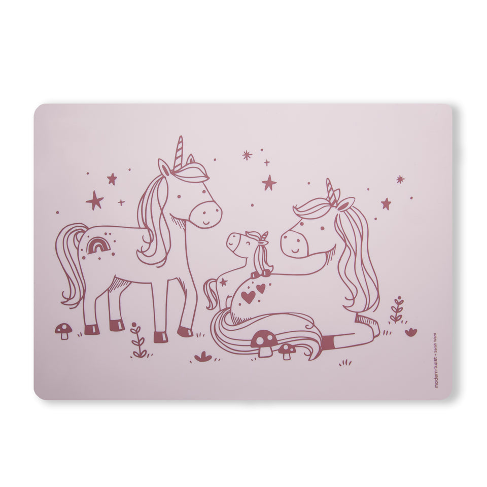 Meal-Mat : Unicorn Family - Rose