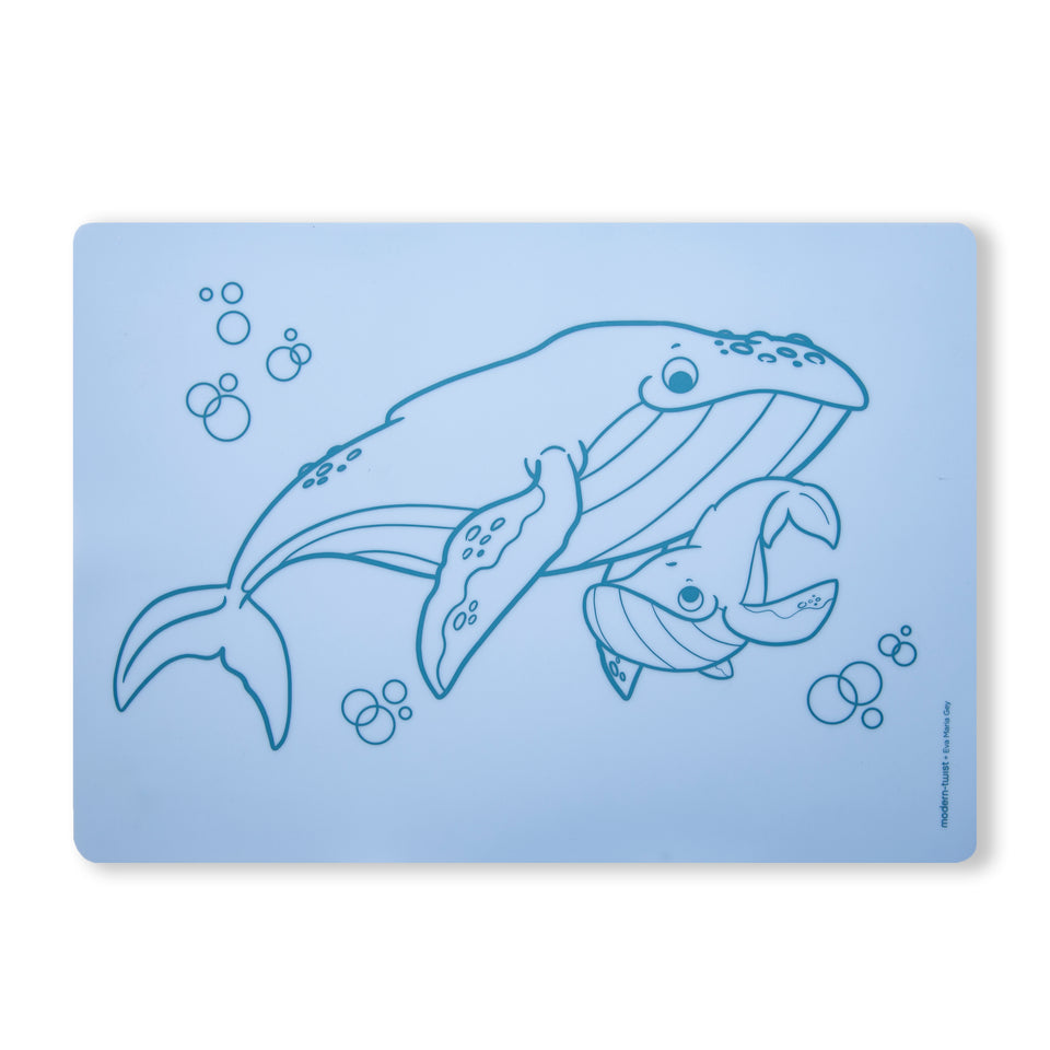 Meal-Mat : Whale Family - Ocean