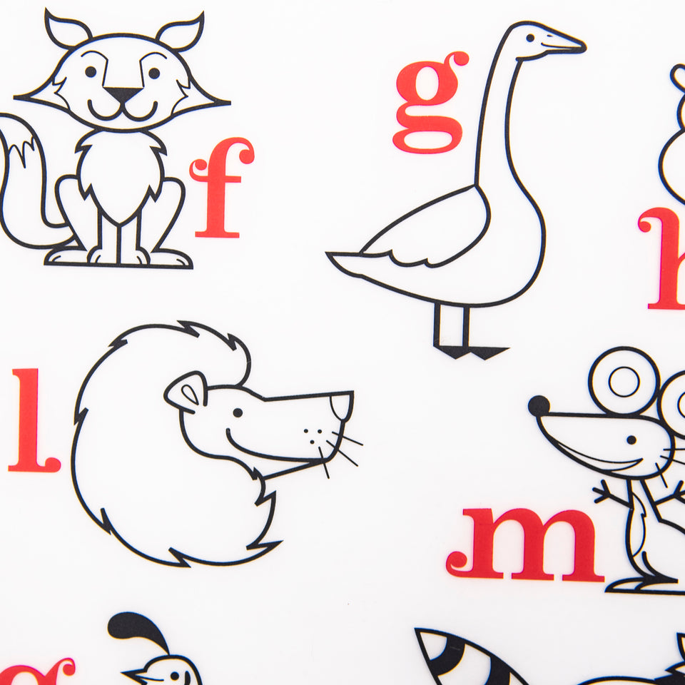 Mark-Mat Set : Alphabet Animals + 3 Markers