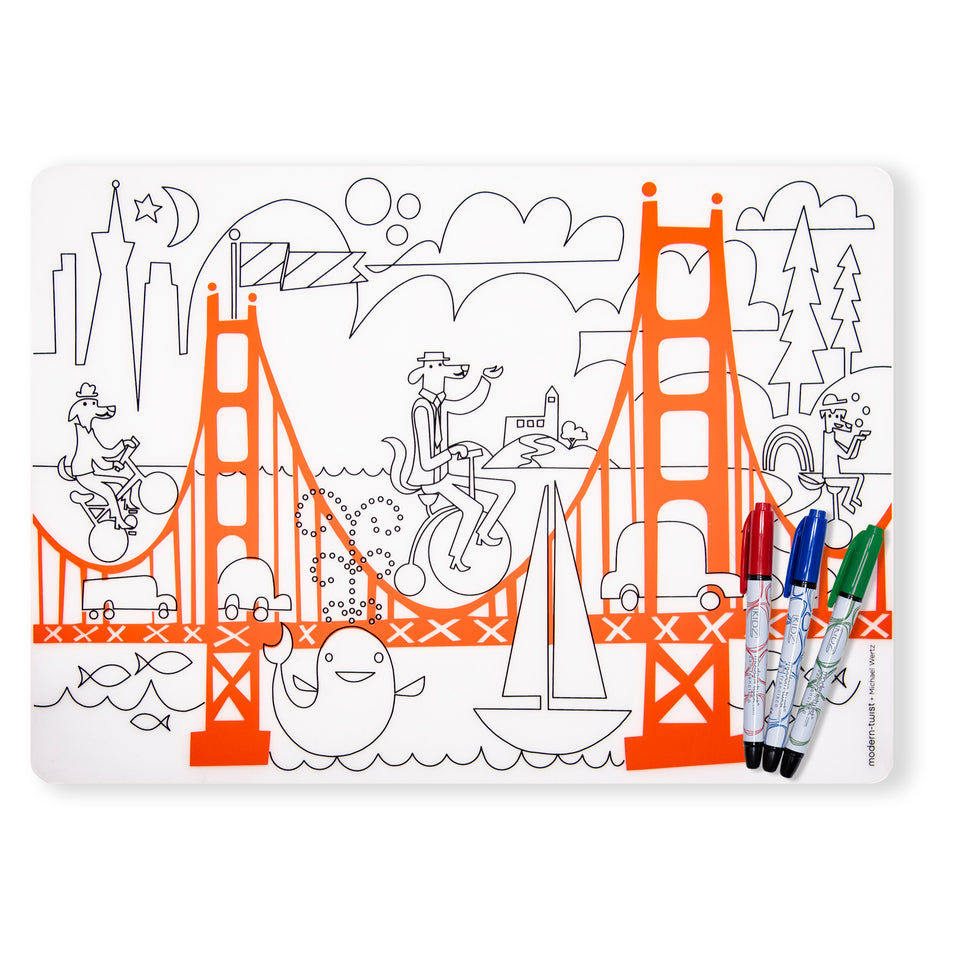 Mark-Mat Set : San Francisco + 3 Markers
