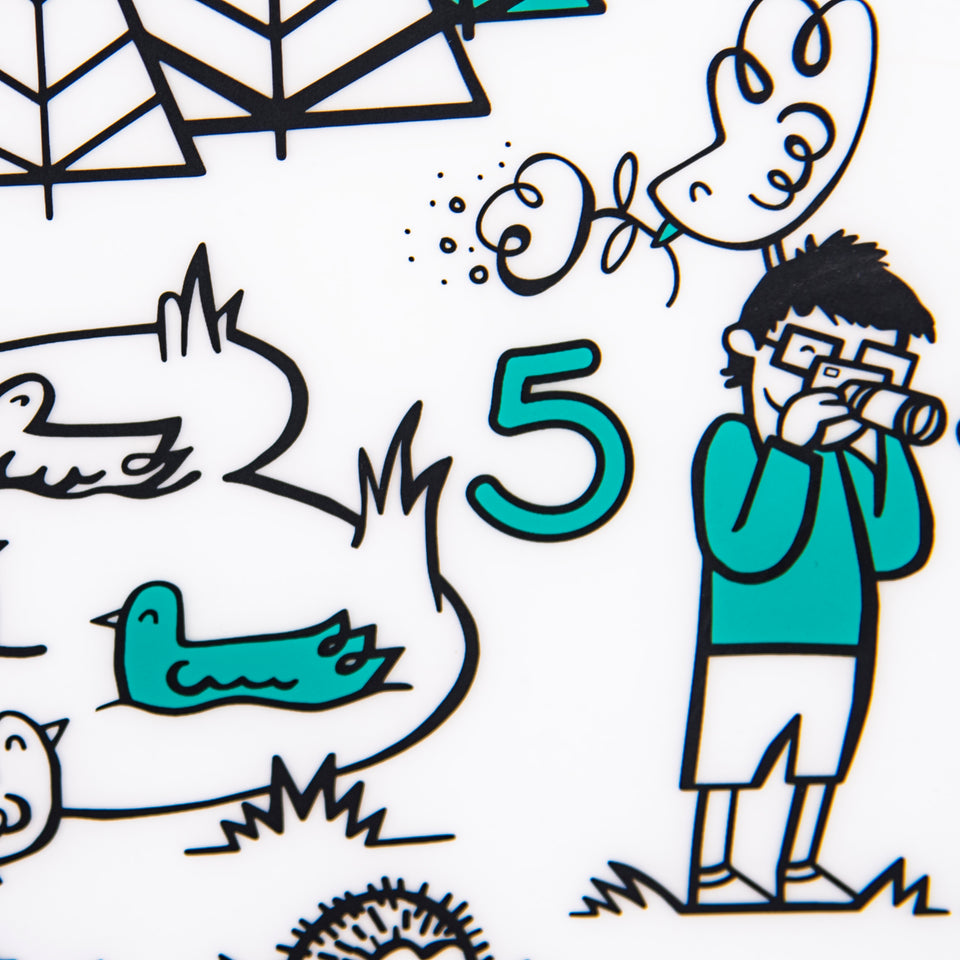 Mark-Mat Set : Numbers - Teal + Markers