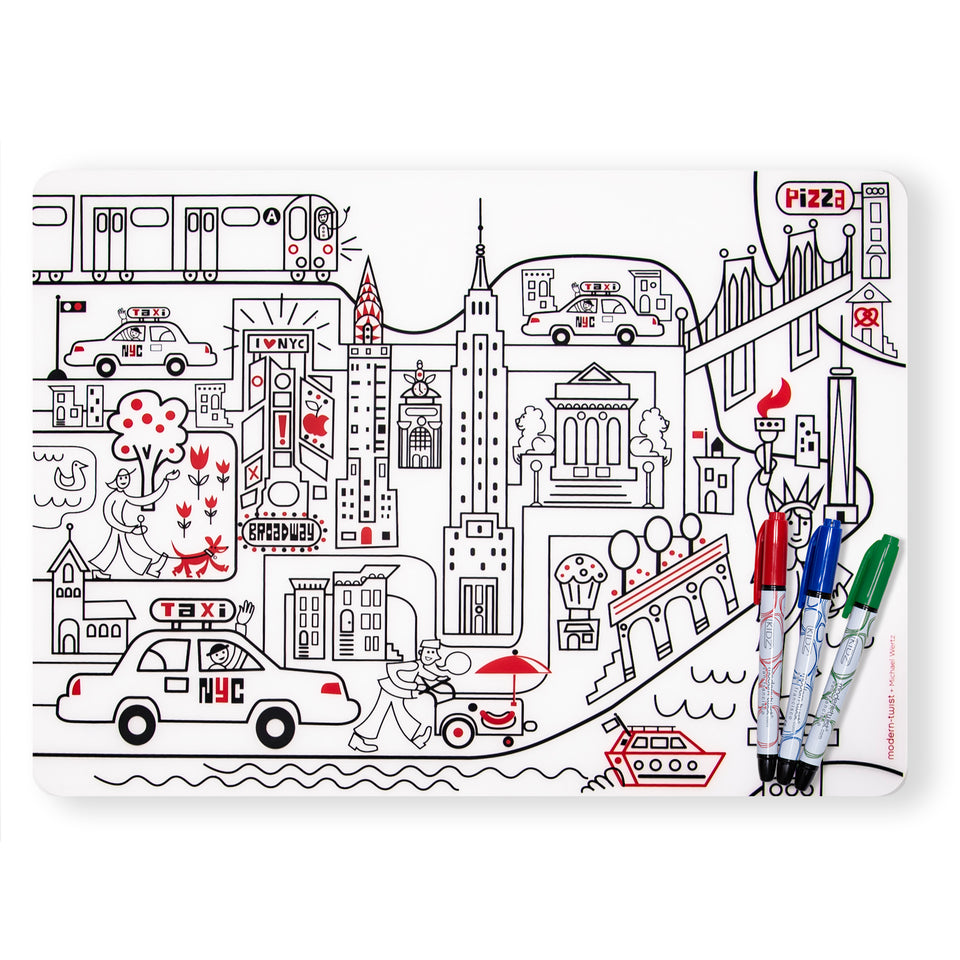 Mark-Mat Set : New York City + Markers