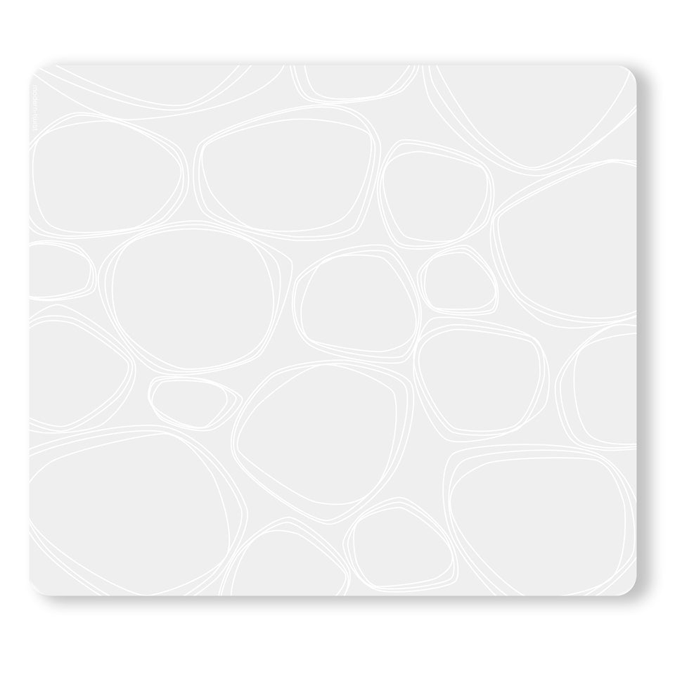 Placemat : Pebbles - White