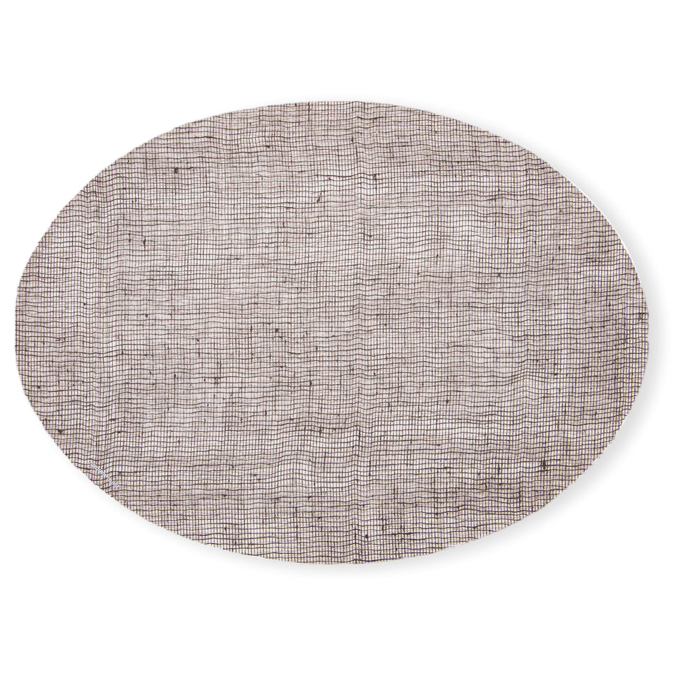 Placemat Oval : Linen - Chocolate
