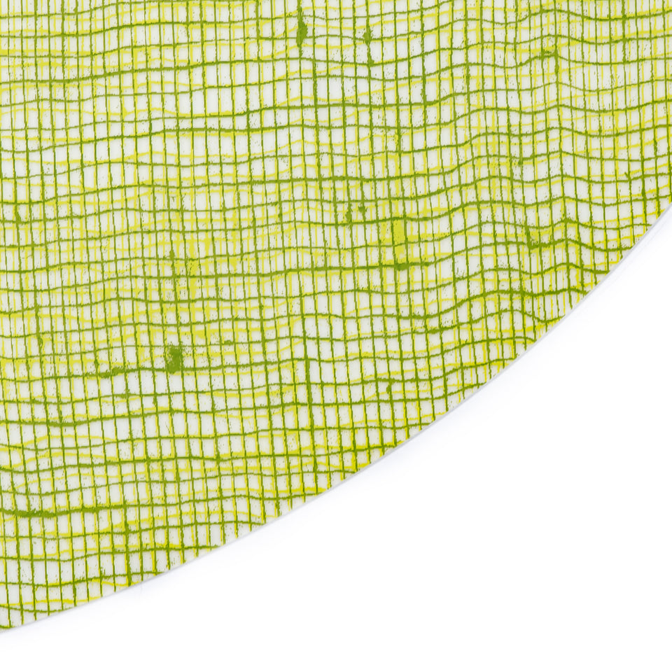 Placemat Oval : Linen - Green Apple