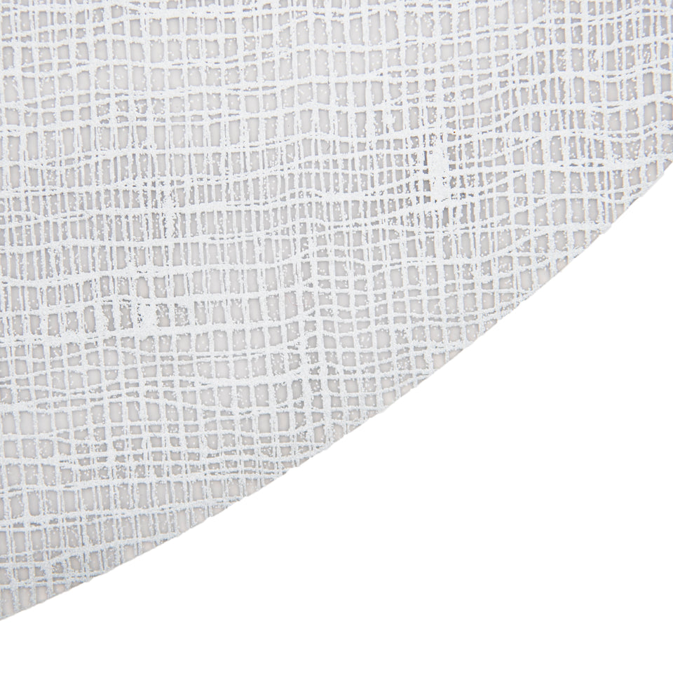 Placemat Oval : Linen - Silver