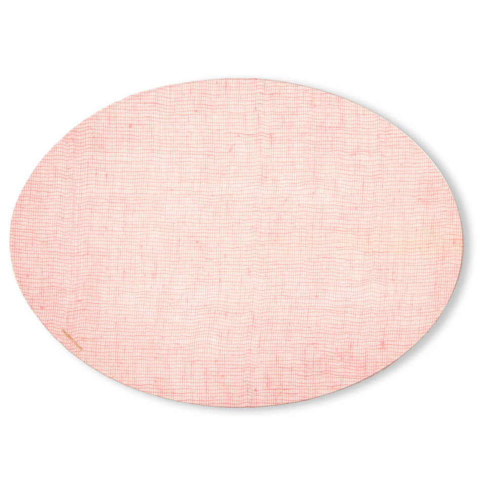 Placemat Oval : Linen - Blush