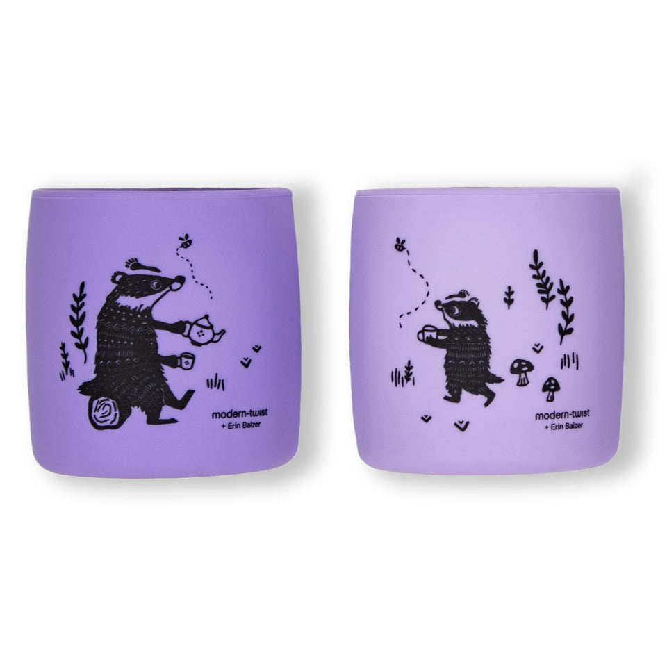 Sip Set : Badger Family - Lavender
