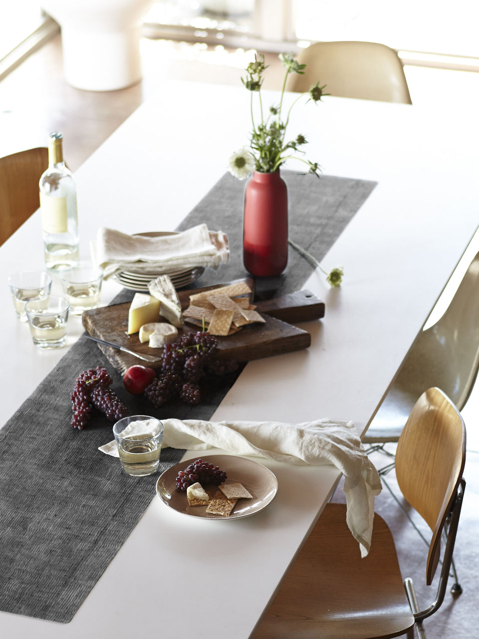 Table-Runner : Linen - Black