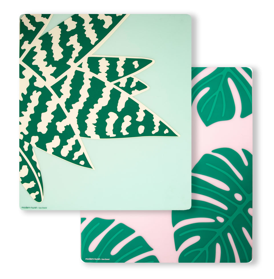 Accent Mat Set: Monstera Deliciosa + Tiger Aloe