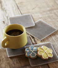 Coasters : Linen - Chocolate