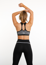 EMPOWER SEAMLESS SPORTS BRA - CHARCOAL