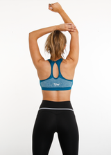 EMPOWER SEAMLESS SPORTS BRA - BLUE