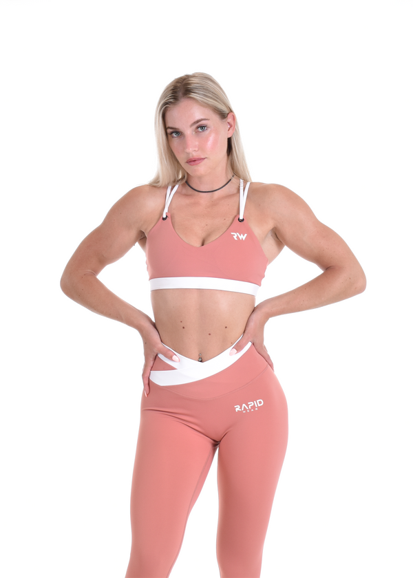 TWO TONED SPORTS BRA - CORAL