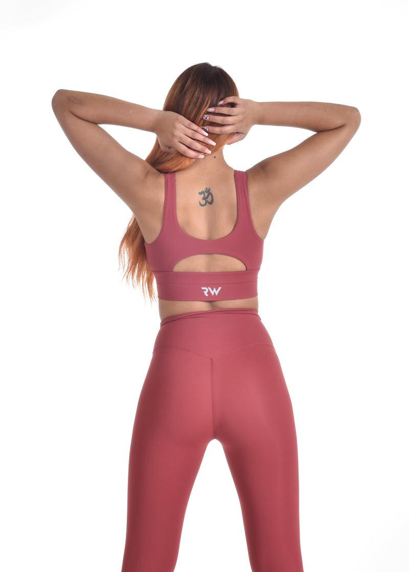 COMPRESS AND COMPACT SPORTS BRA - RED
