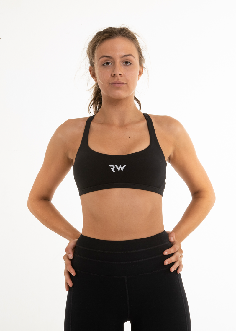 SWEAT IT SPORTS BRA - BLACK