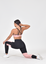 TRACK RUNNER SPORTS BRA - PEACHY